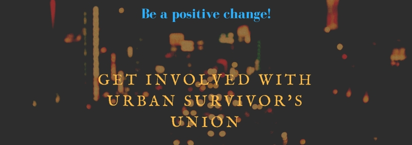 Get involved withUrban Survivor's Union